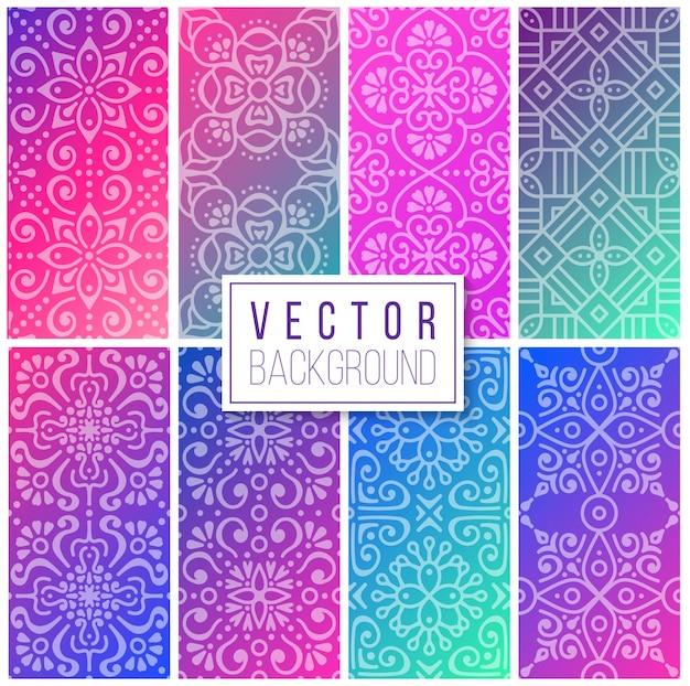 만다라와 컬렉션 민족 꽃 패턴