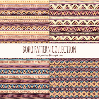 Collection of ethnic hand drawn patterns
