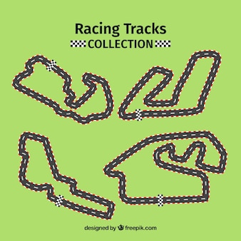 Collection of f1 racing tracks