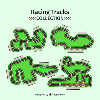 Collection of f1 racing tracks