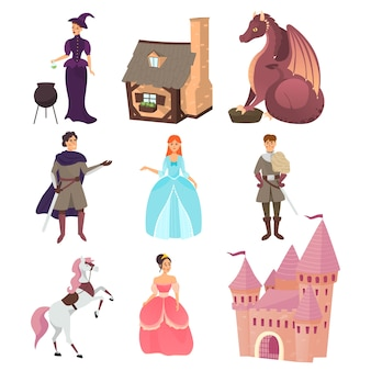 Collection of fairytale characters