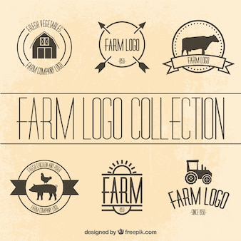 Collection of farm logotype templates