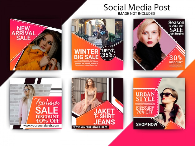 Collection of fashion banner template