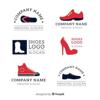 Collection of fashion shoe logos