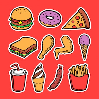 Collection of fast food element