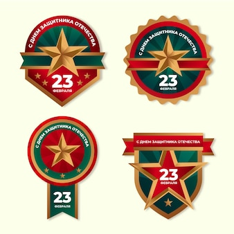 Collection offatherland defender day badges