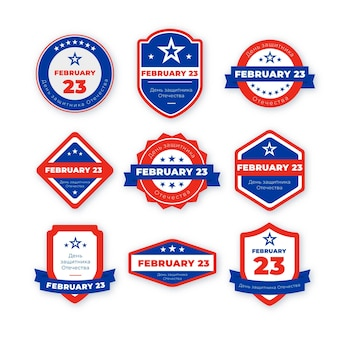 Collection of february 23 patriotic badges