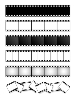 Collection of film strip, movie, photo