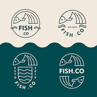 Collection of fish shop logos