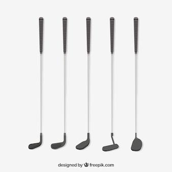 Collezione di cinque mazze da golf