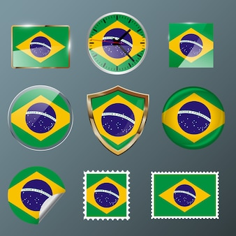 Collection flag brazil