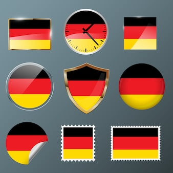 Collection flag germany