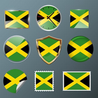 Collection flag jamaica