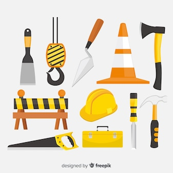 Collection of flat construction equipment