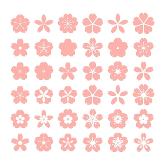 Collection of flat design sakura collection