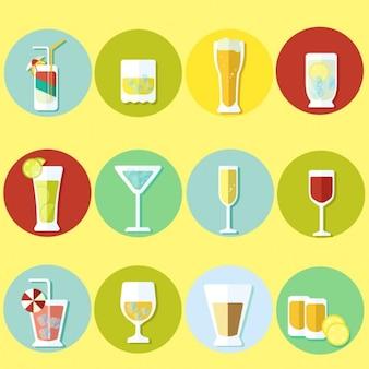 Collezione cocktail piatto