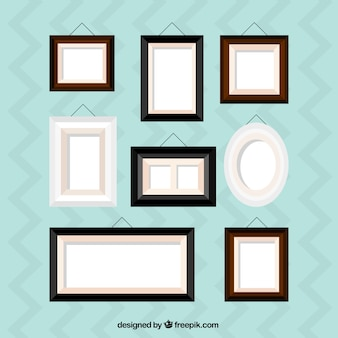 Collection of flat frame of home decoration
