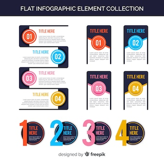 Collection of flat infographic elements