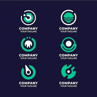 Collection of flat o logo templates