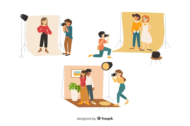 Collection of flat photographers working