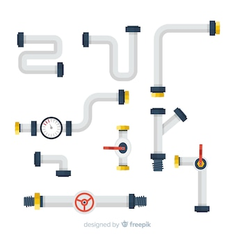 Collection of flat pipes