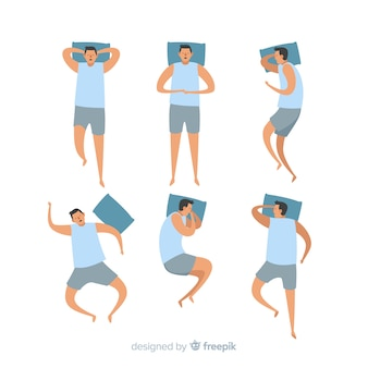 Collection of flat sleeping poses