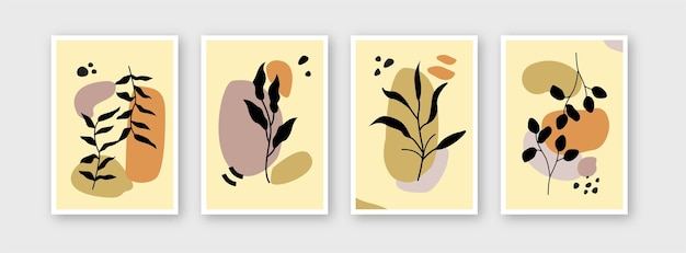 Collection of flower templates for branding covers design layout bundle poster