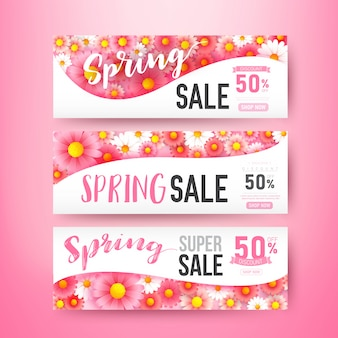 Collection fo  spring banner template