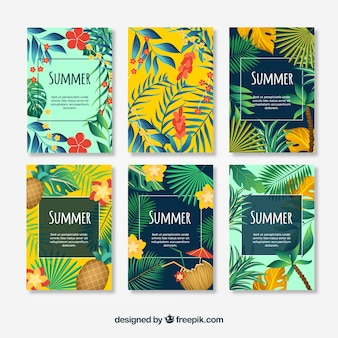 Collection fo summer cards