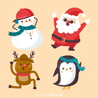 Collection of four different christmas characters
