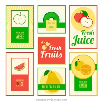 Raccolta di brochure succo di frutta