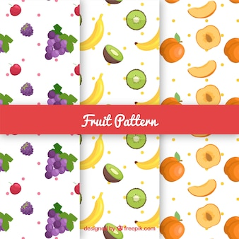 Collection of fruit patterns
