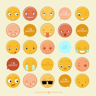 Collection of funny emoticons with messages