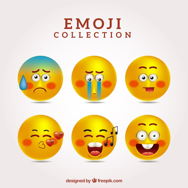 Collection of funny emoticons