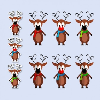 Collection of funny reindeer