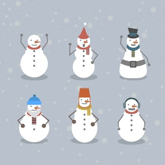 Collection of funny snowmen