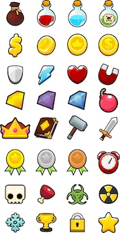 Collection of game icons