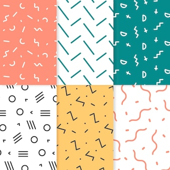 Collection of geometric drawn patterns
