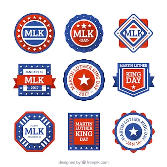 Collection of geometric martin luther king badges