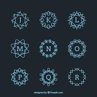 Raccolta di monogrammi geometrici