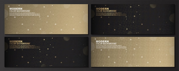 Collection of geometric set banner background