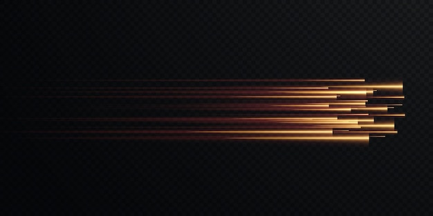 Collection of gold speed lines isolated gold light electric light light effect png curve gold.