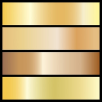 Collection of golden gradient backgrounds