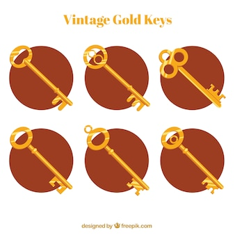 Collection of golden keys