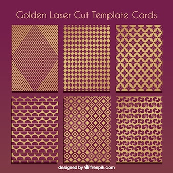 Collection of golden laser cut templates