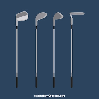 Collection of golf clubs