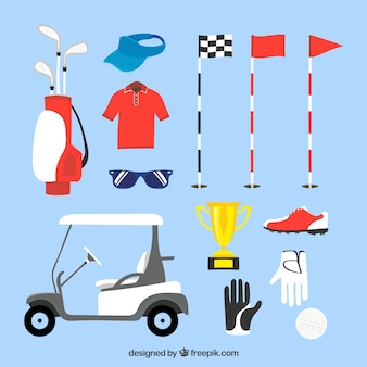 Collection of golf elements