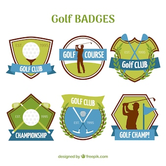 Collection of golf labels