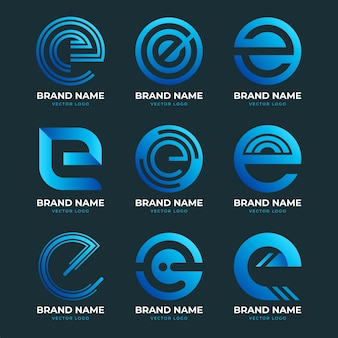 Collection of gradient o logo templates