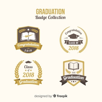 Collection of graduation badges